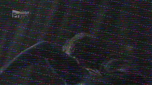 Elektromagnetische interferentie op een analoge tv-signaal